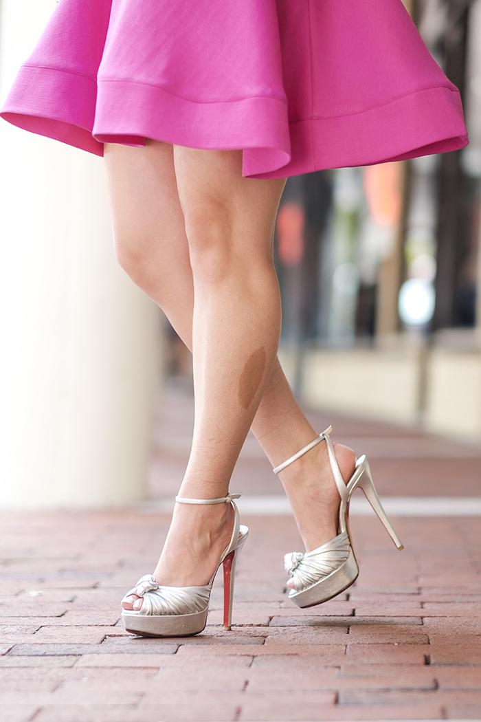 Silver Christian Louboutin heels