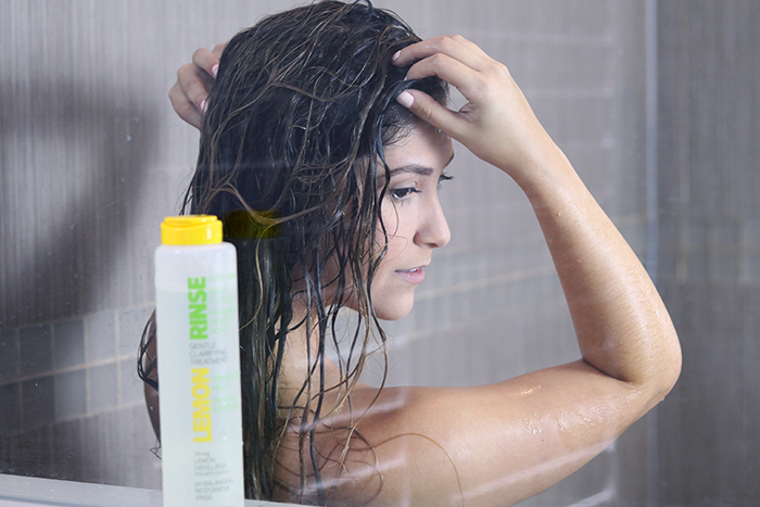 lemon rinse for hair