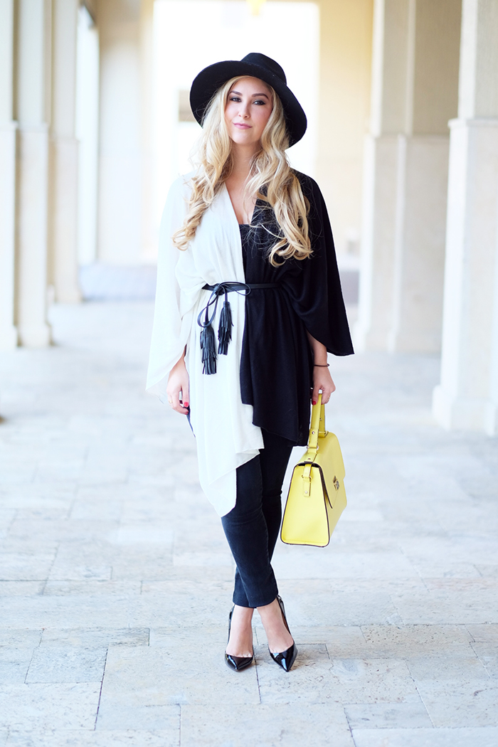 Black and White Cape