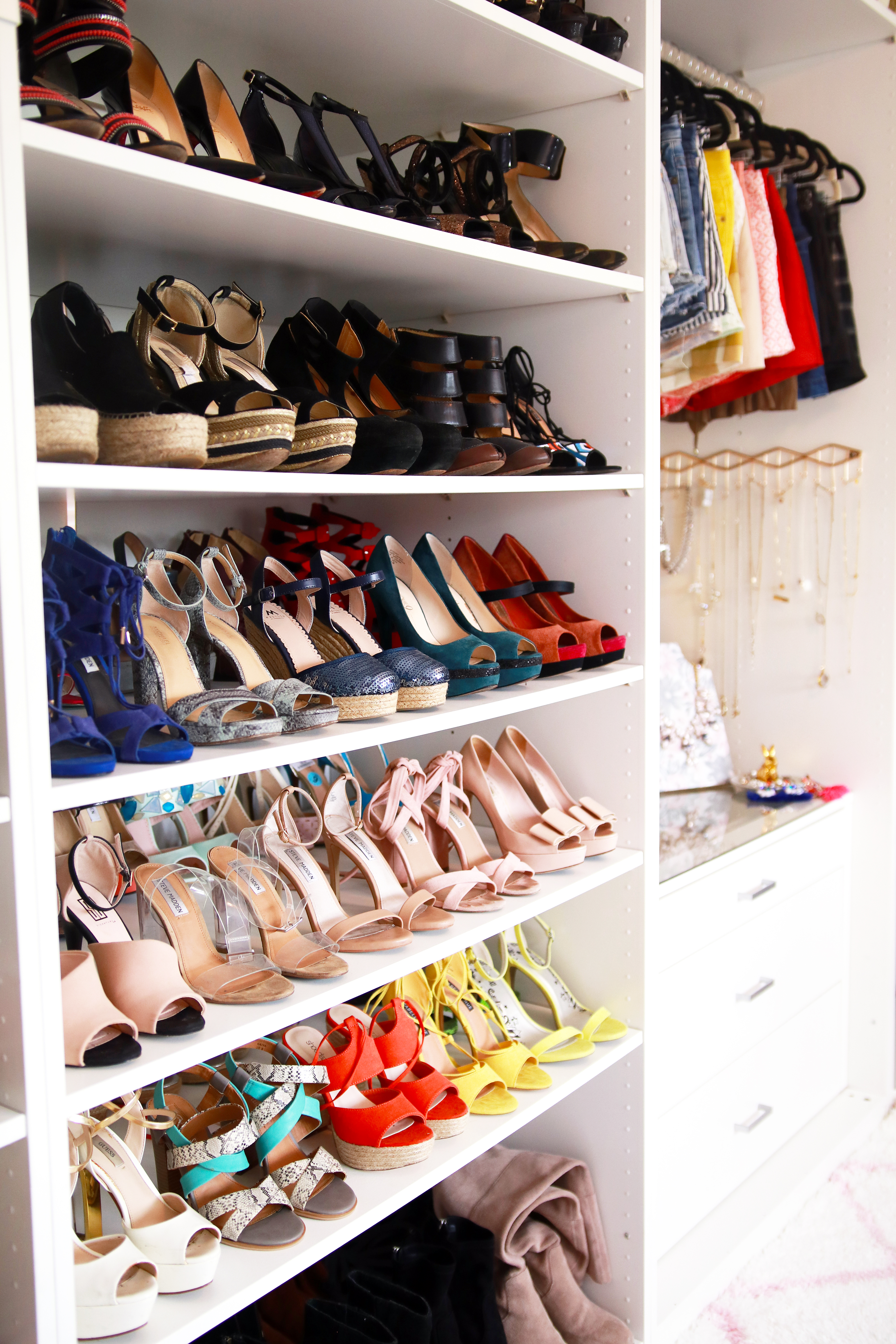 Walk in closet reveal