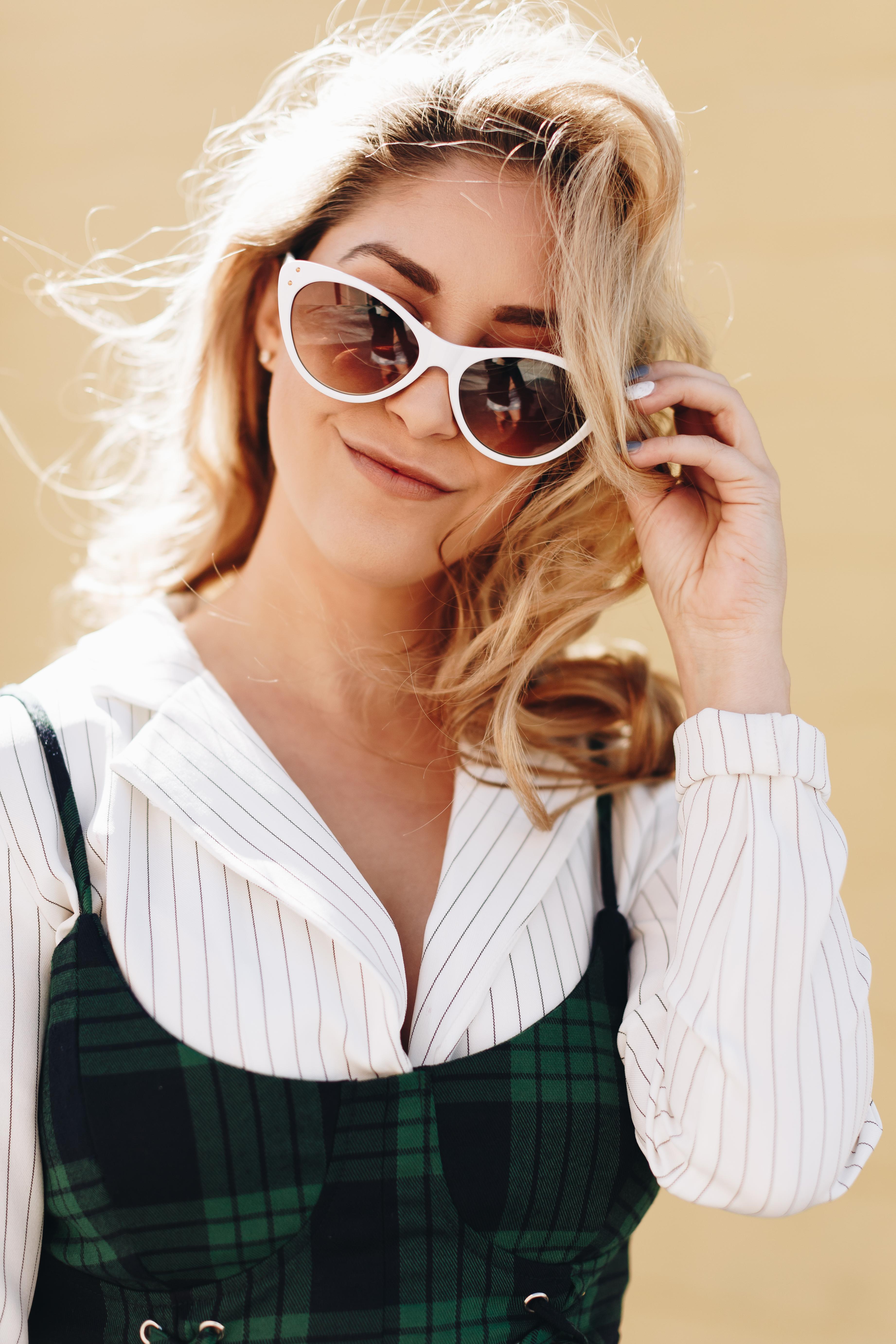 90s white sunglasses